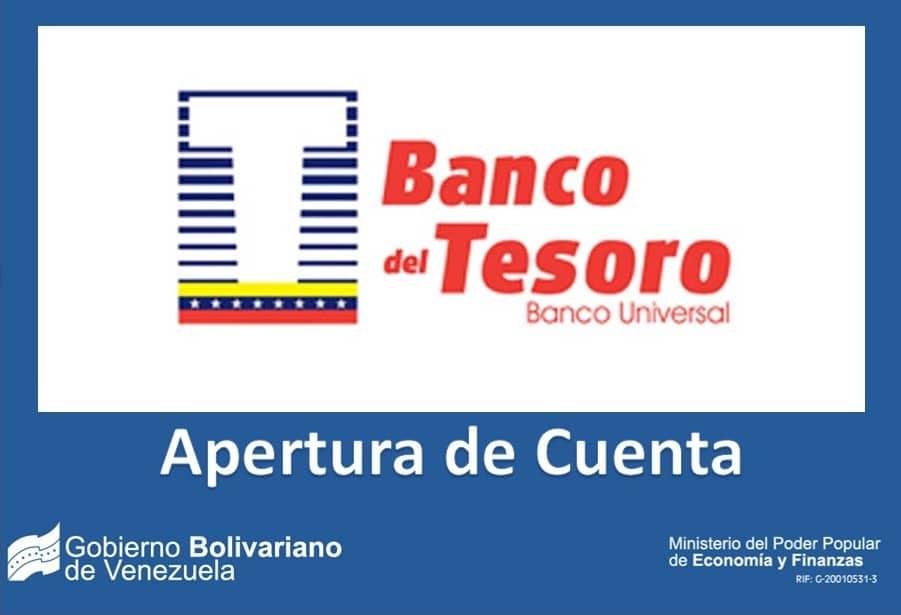 BANCO DEL TESORO APERTURA DE CUENTA