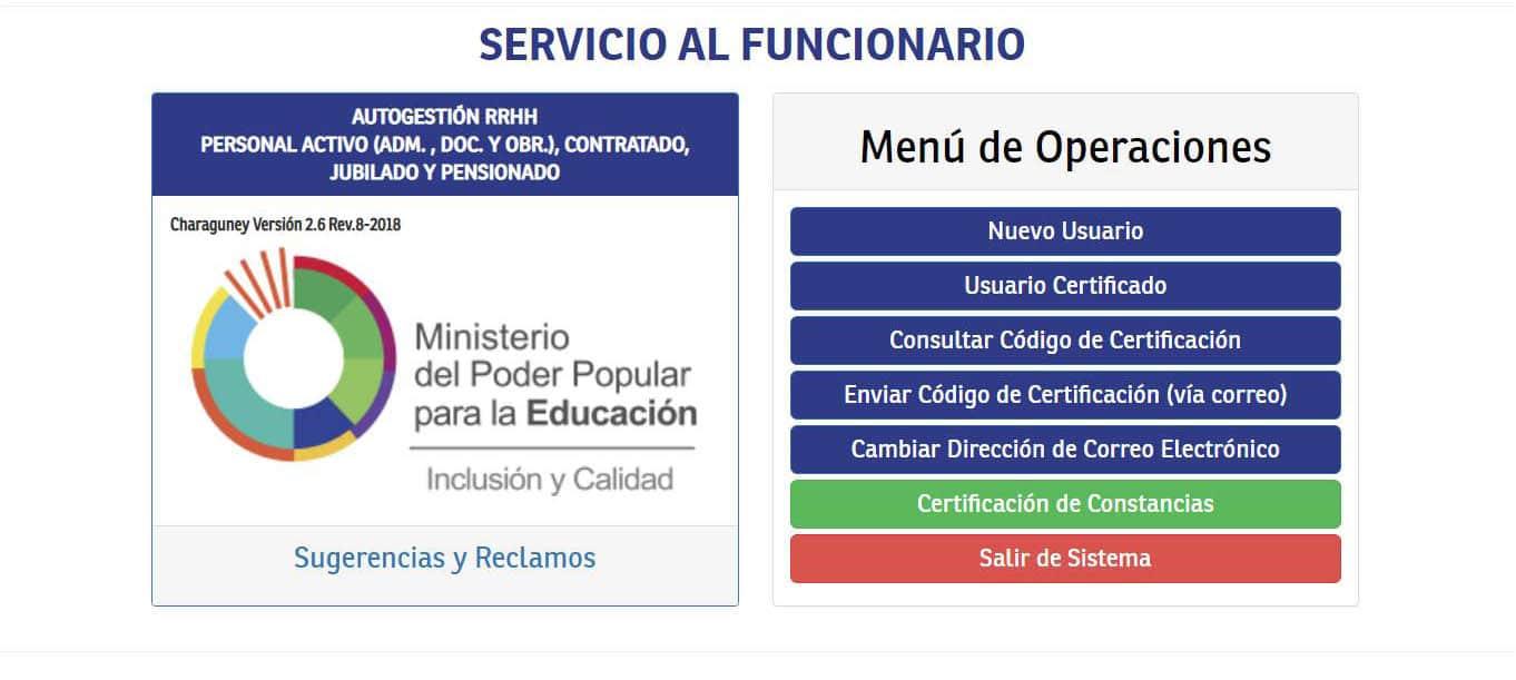 Ministerio del Poder Popular para la Educación oficina virtual 2