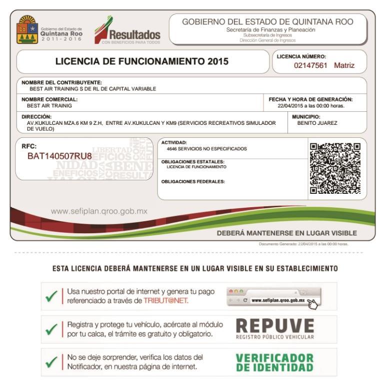 requisitos para licencia de funcionamiento