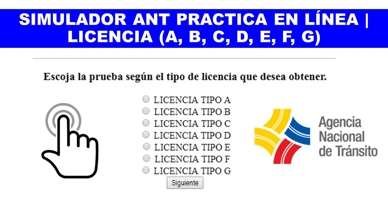 Preguntas para renovación de licencia tipo B