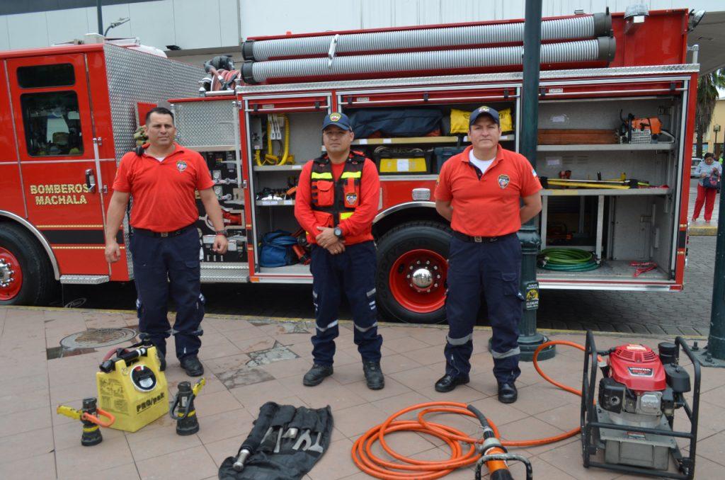 cuerpo de bomberos Machala